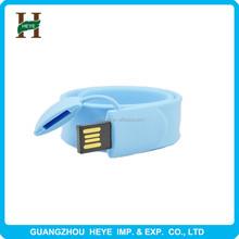 Silicone Bracelet Wristband USB