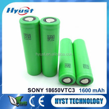 Special classical vtc3 18650 3.7v 1600mah lithium battery - Free samples
