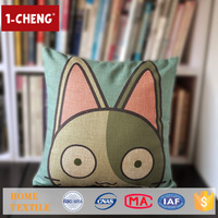 Trade Assurance Creative Cat Pattern Printed Design Custom Cushion Home Decor Pillow Cushions With Embroidered Wool