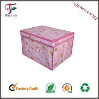 Decorative cardboard non woven storage boxes