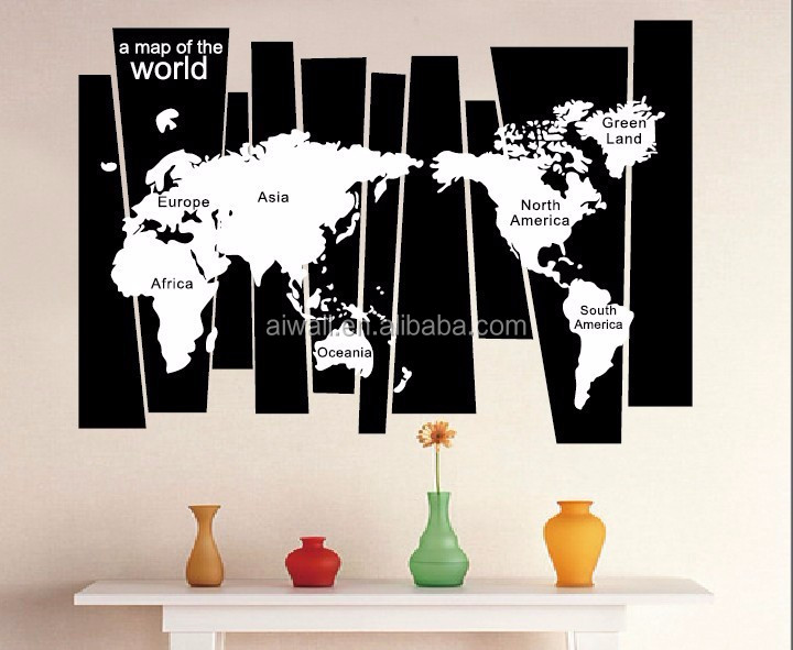 World Map D Wall Stickers High Quality World Map Wall Sticker - 3d world map wall art