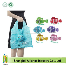 Promotion recycled 190D polyester fashion fish plain tote bags