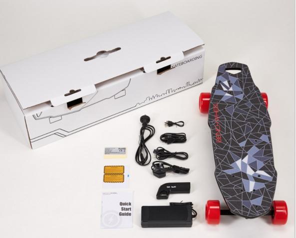 1000 W led skate Elétrico em brushless do motor com controle remoto