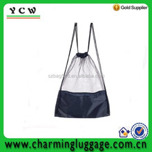 Customized Nylon mesh promotional fashion drawstring backpack