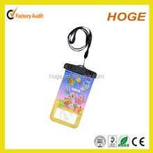 cartoon photo printed pvc waterproof mobile phone bag