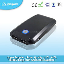 with 2 USB external portable power bank Charger For Cell Phone