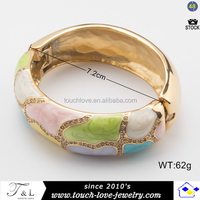 fashion metal bracelet with cloisonne enamel bangle for girls