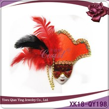 orange pretty bulk mini masquerade magnet mask