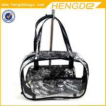 Women Handbag With Clear Pvc Cosmetic Bag