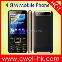 V8100 4 SIM China Mobile with 2.8 Inch Big Screen, Decent Design and Good Price