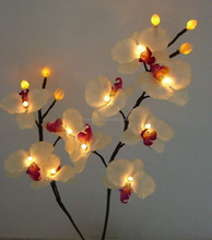 white orchid light up artificial flowers