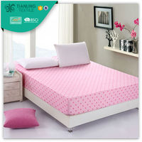 Pink Colour Removable Dot Printing Mattress Cover