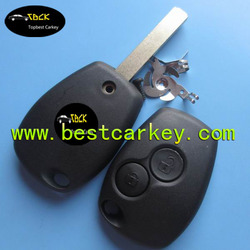 Best price 2 buttons remote key blanks wholesale for renault key renault key case
