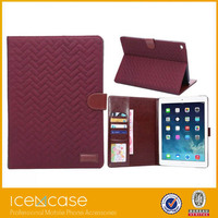 Trending hot case for ipad air2 , fashion tartan design leather case for iPad air2