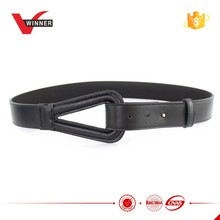 2015 Ladies Durable Black Leather Belts