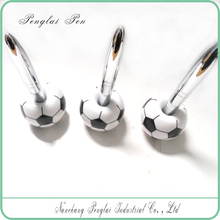 metal magnetic floating football pen with logo printing office desk pens
