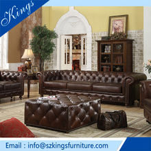 Modern New Style Luxury Chesterfield Leather Sofa For Sale