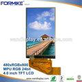 """4"""" táctil lcd de pantalla con resolución 480x800 y el panel de tacto( kwh040st03- f02)"""