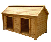 Double Large Wooden Dog Kennel / Dog House for 2 Dogs