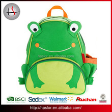 Hot Sale Cheap 600D Polyester Frog Animal Backpack School Lunch Bag for Kids