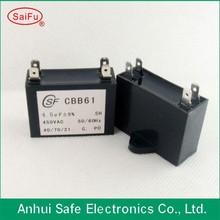 hot cbb61metallized film AC motor capacitor long life expectancy