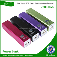 HC-A4 Aluminum high quality 2200mah mini power bank factory