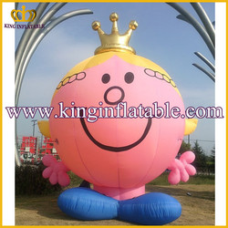 Giant Inflatable Mr Men And Little Miss Cartoon Character For Sale