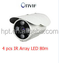 I4pcs IR Array Led 80m IR Range H.264 Professional IP Camera720P