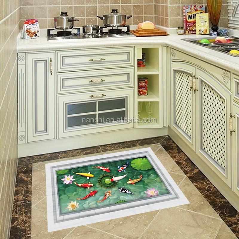 3D Boden Aufkleber Teich Fische Bad Fliesen Aufkleber Küche ...