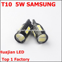 T10 Samsung 5W 10SMD 5730 5630 High Power SMD LED Dome Map License Plate Light Tail Dome Replacement Projector LENS