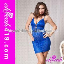 zafiro wholeasle mujer caliente de tamaño más sexy vestido de diseñador