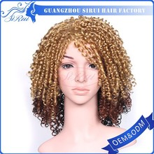 Wholesale cheap high tempeture kanekalon synthetic box braided wigs for black women , heat resistant synthetic hair wigs for men