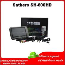 Original Sathero SH-600HD DVB-S2 Digital Satellite Finder Meter Satfinder HD with Spectrum Analyzer 7inch LCD USB2.0 SH-600HD