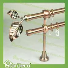 A0020 Double curtain rod, leaf finial curtain rod, curtain rod leaf finial