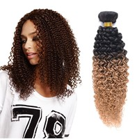 """Alibaba express virgin indain hair colored two tone hair weave jerry curl 16"""""""