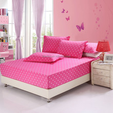 Dot Solid Colour 100% Cotton Bedding Sets Fitted Sheet Factory Price