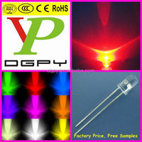 Dip 5mm Red LED/625nm red 5mm led/5mm round red led diode 2500-3500mcd ( CE & RoHS Compliant )