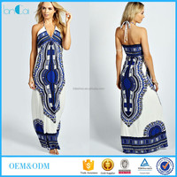 New design Pakistani clothing for women OEM hippie halter maxi dresses