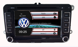 For Vw dvd 2 din autoradio with red UI