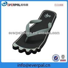 foot shape unisex cute die cut sole flip flops