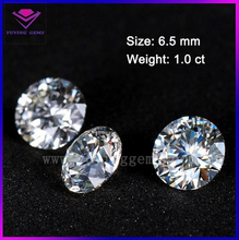 forever brilliant round brilliant cut synthetic 6.5mm 1carat moissanite stone