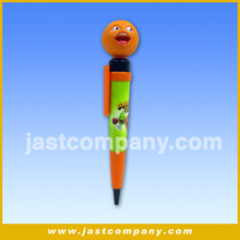 Cute Orange Head Talking Pen, Funny Orange Head Talking Pen, Smiling Orange Head Talking Pen