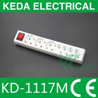 German style 2 pin / 3pin power strip / extension power plug socket