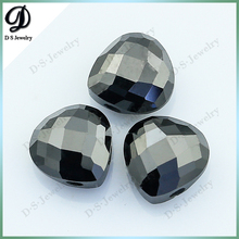 Wholesale Jewelry Pear Cut Black Artificial Zircon
