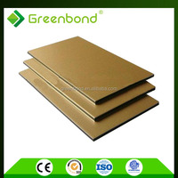 Greenbond insulated aluminum roof acp furniture decoration panels with 12 years