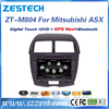 High quality car multimedia system for Mitsubishi ASX accessories with BT phonebook SWC