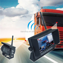 7 inch wireless rear view car camera system for heavy duty vehicle
