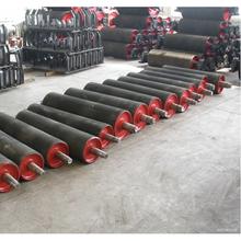 conveyor machine equipment mine stone cement steel red rubber conveyor belt roller