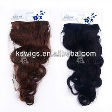 "20"" Single pieces Brazilian high quality Body Wave Clips in Hair Extensions"