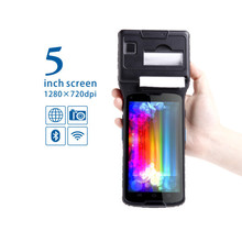 2015 New portable fingerprint barcode scanner with UHF RFID,printer,Android OS industrial pda with wifi,Bluetooth,gps camera
